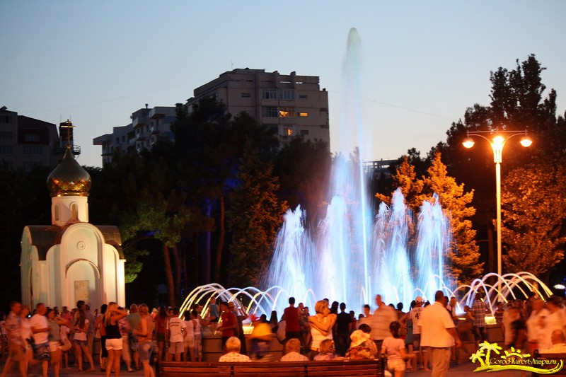 Пающие фонтаны в Анапе