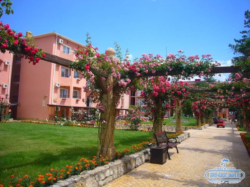 Отель «Ривьера» Анапа - прекрасная розовая аллея